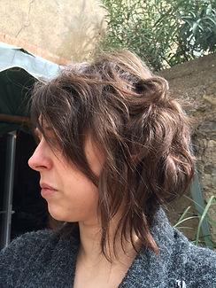 coloration cheveux chatain, blonf foncé