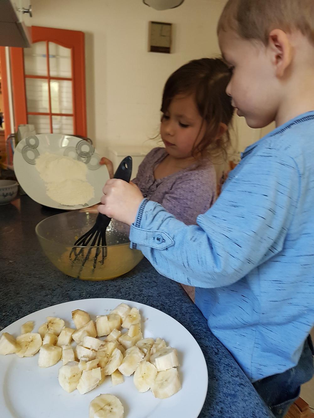 gateaux facile avec des bananes, gateaux enfants