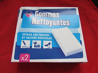 gomme nettoyante leader price, efface, traces, taches, difficile, facile, mur