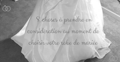les choses à prendre en considération avant d'acheter une robe de mariée