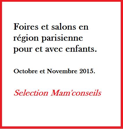 selection foire salon paris pour enfant