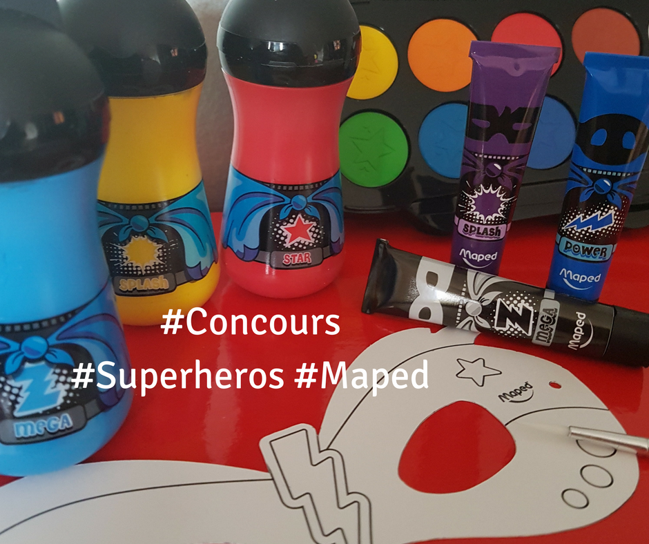 concours super hero maped, maman avis peinture