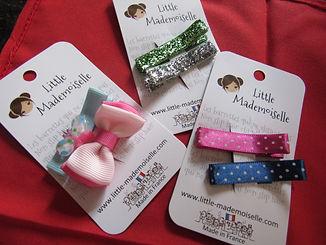 panaché barrettes little mademoiselle 3 catégories, barrettes qui ne glissent pas, dompter cheveux filles