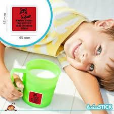 etiquette thermocollante gobelet vert et rouge enfant