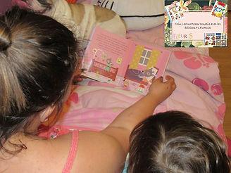 lecture, soir, famille, maman, fille, fleurus, choix, enfant