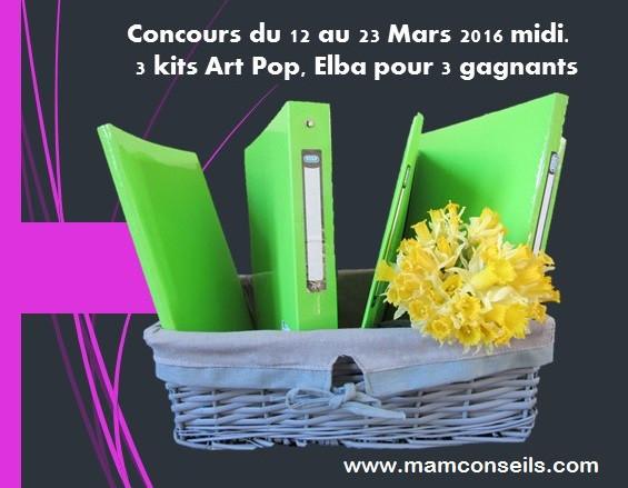 concours elba, kits art pop