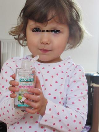 Solution pour lavage de mains des enfants cet été