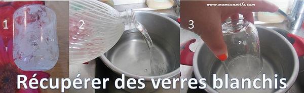 récupérer des verres blanchis  étapes facile vinaigre