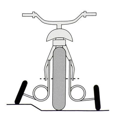 Roues stabilisatrices EZT à suspensions pour vélo 16 à 20 pouces