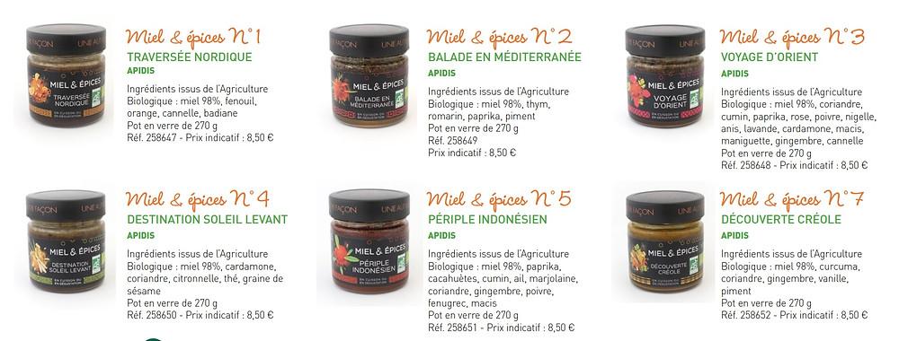 botanic, miel, épice, bio, alimentation