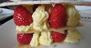mille feuilles vanille, fraise, fait maison