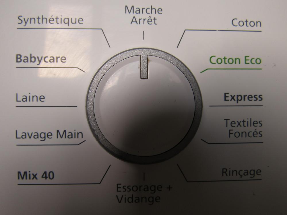 programme machine à laver