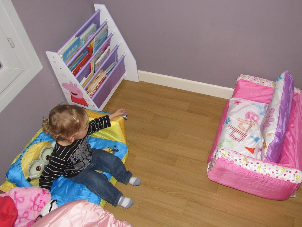 creation espace lecture chambre enfant