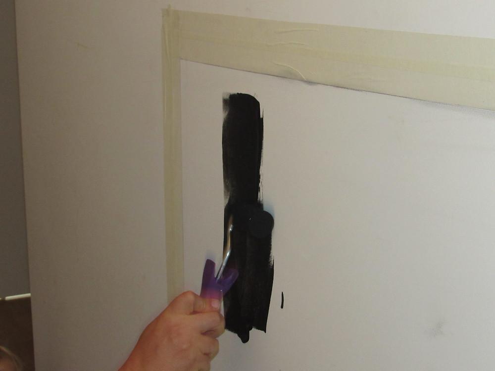 comment mettre peinture gribouille