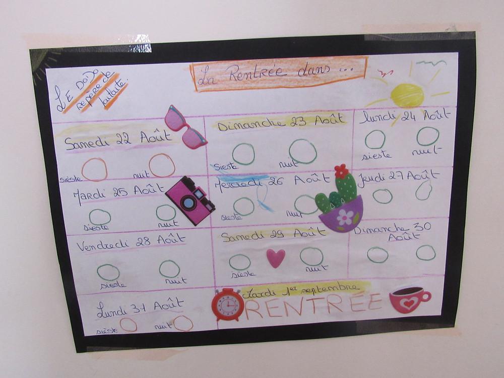 calendrier des dodos