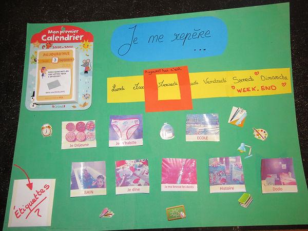 calendrier, maternelle, rituel, routine, calendrier perpétuel, créer un calendrier repère, enfant