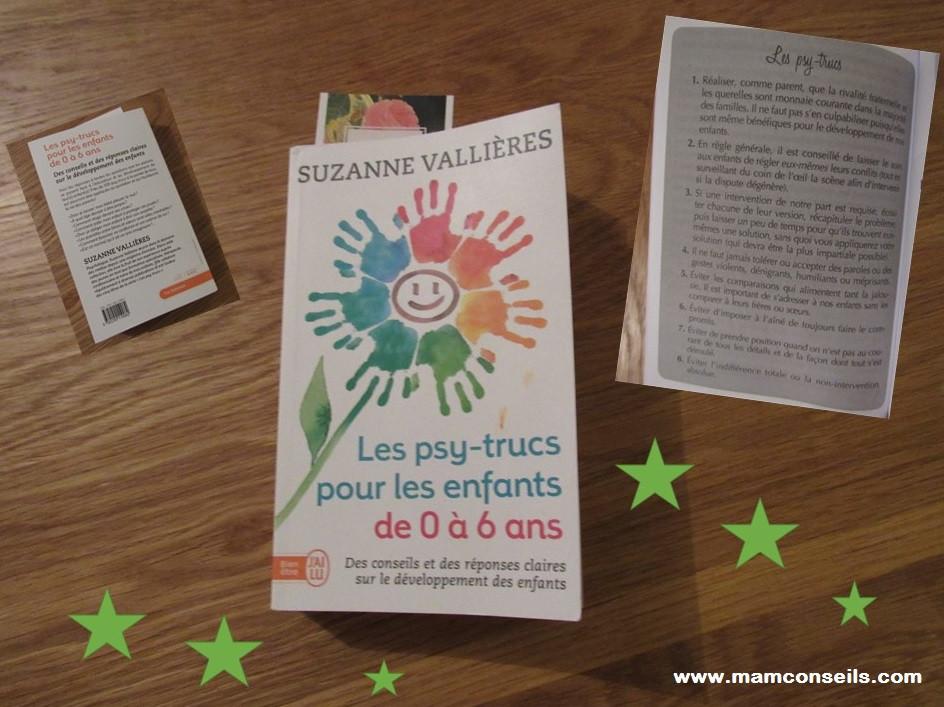 suzanne valliere, avis livre, blog, les psy-trucs pour les enfants de 0 à 6 ans