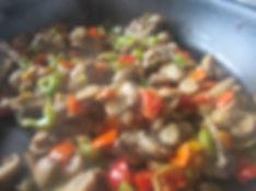 cake légumes, champignon paris, reste du frigo