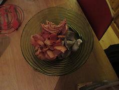 pleurotte grise et rose coupés