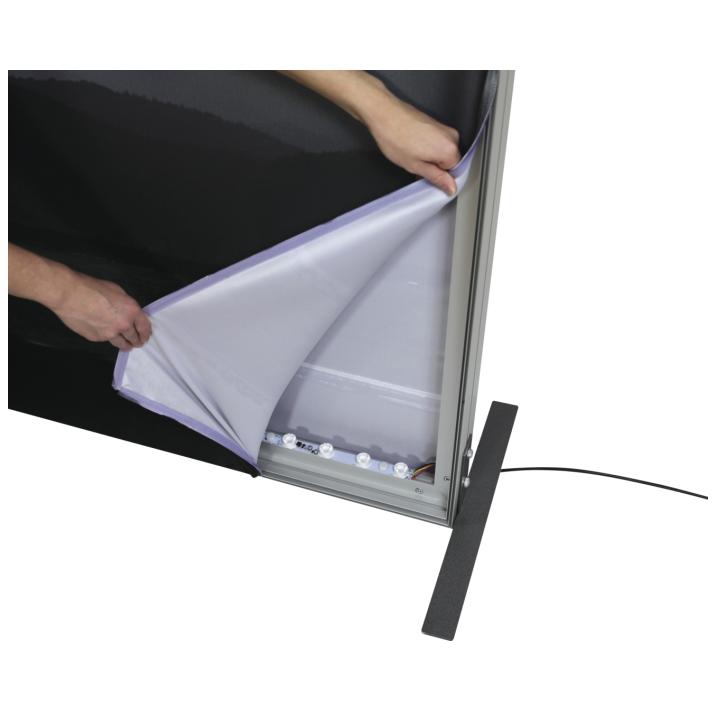 8x20 Illuminated fabric backdrop display stand 5