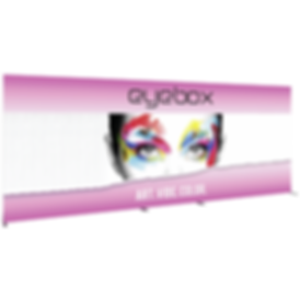 8x20 Illuminated fabric backdrop display