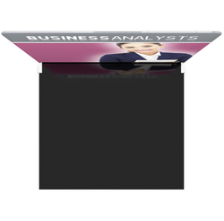 10 trade show display hardware and fabric backdrop