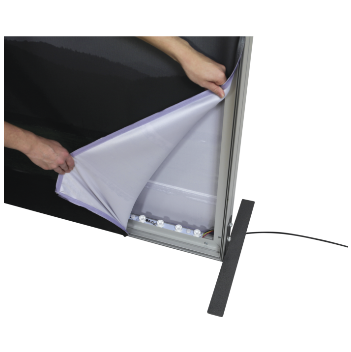 8x10 Illuminated fabric backdrop display stand 5