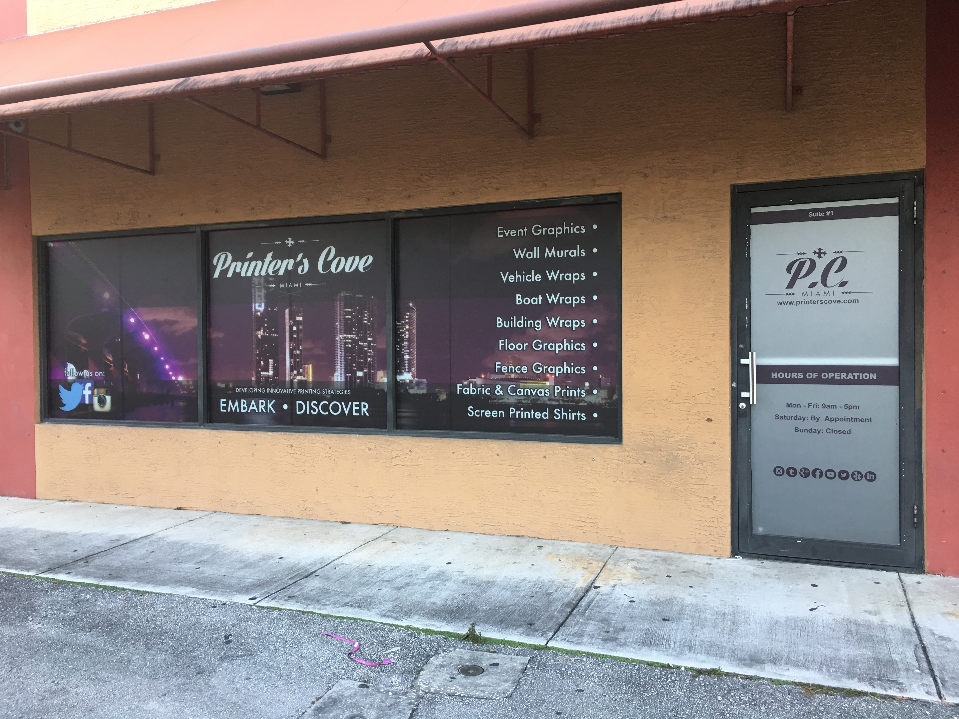 Printers Cove Window Graphics