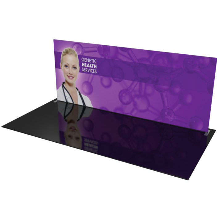 20 trade show display hardware and fabric backdrop