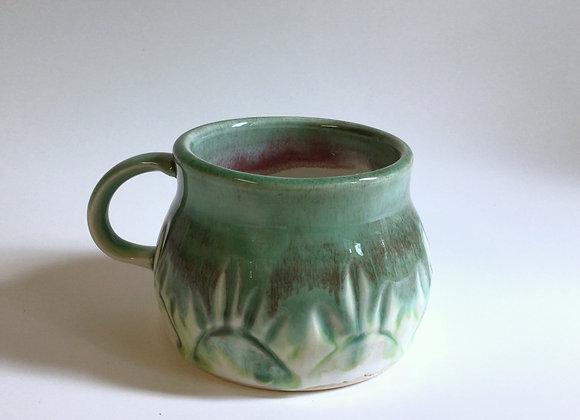 Green Flower Mug
