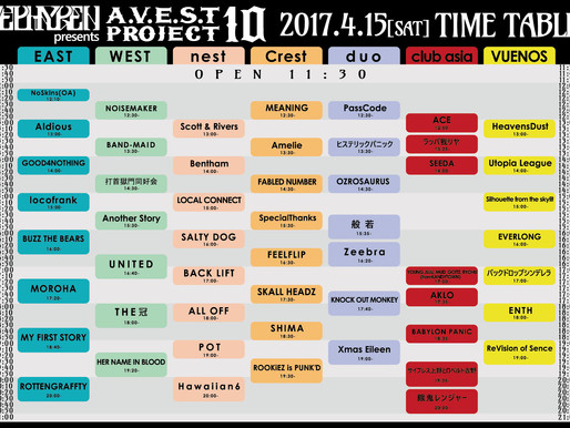 A.V.E.S.T TIME TABLE!