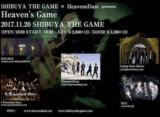 "11/20 ""Heaven's Game""!!"