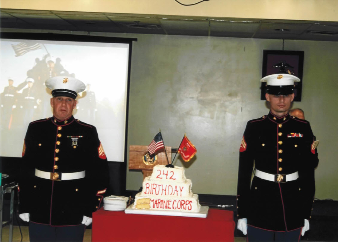 Marine Ball Soldiers Cake