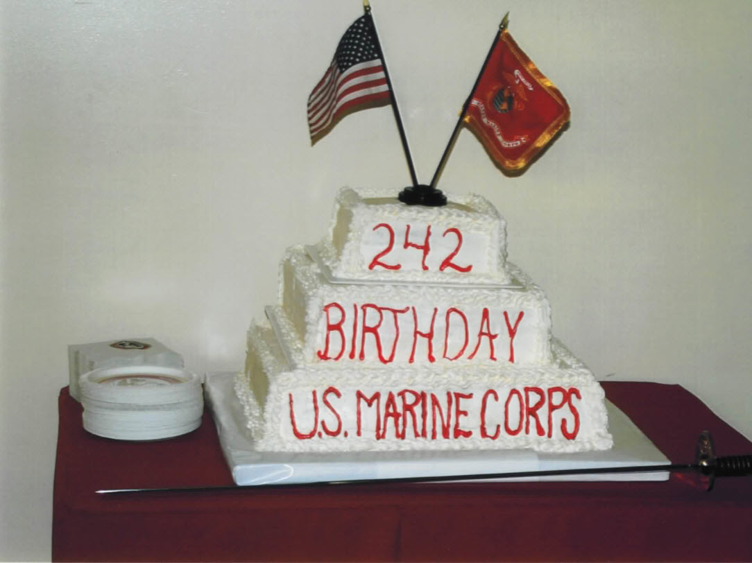 Marine Ball 242nd Birthday Cake