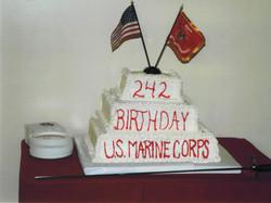 Marine Ball 242nd Birthday Cake