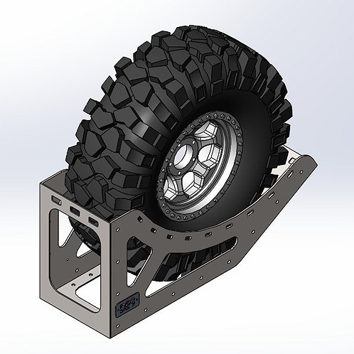 Baja Trophy Truck Tire Rack - Chase Truck Tire Storage