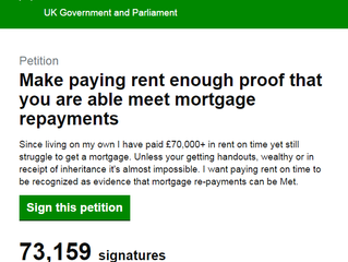 Make paying rent enough proof that you are able meet mortgage repayments