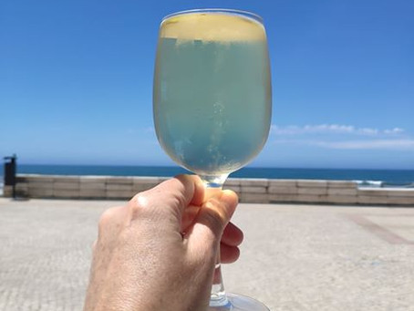 Green wine at the coast