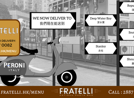 Fratelli Artisan Pasta bar now delivers!