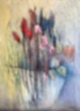 Blumenbild, Strukturmalerei, marny-art