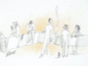 Corona-Zeichnung, marny-art