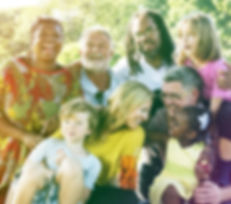 Diverse Family Picnic Outdoors Togethern