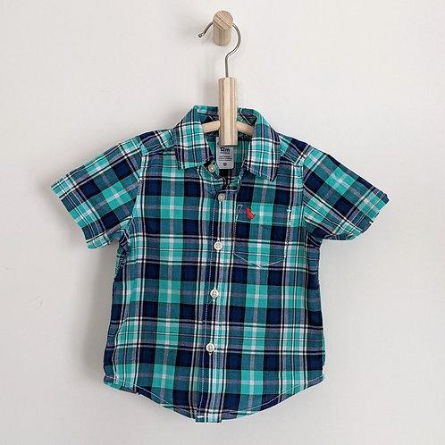Carter's Plaid Button Down Shirt (12m)