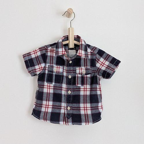 OshKosh Plaid Button Down Shirt (12m)