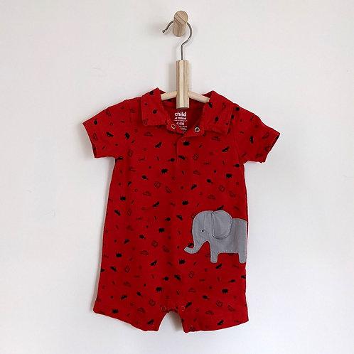 Carter's Elephant Shorty Onesie (6-9M)