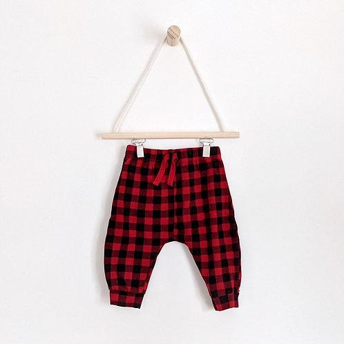 Red Plaid Pants (3-6m)