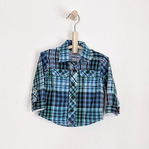 GenuineBaby OshKosh Plaid Shirt (9m)