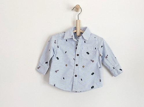 Carter's Printed Button Down Shirt (6)