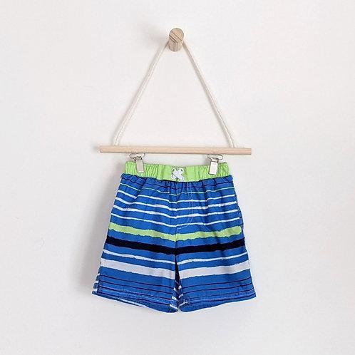Sol Swim Striped Swim Trunks