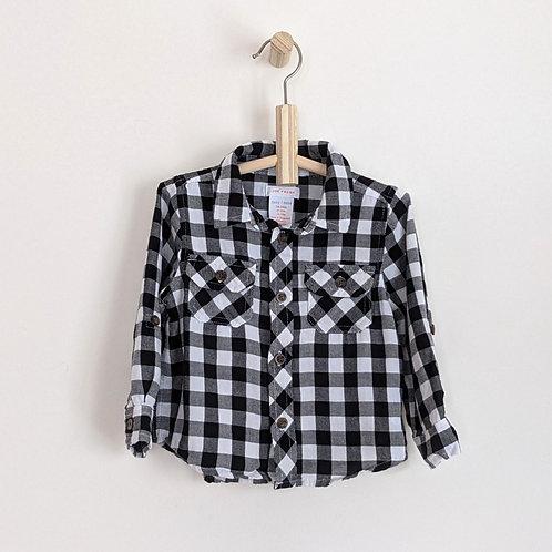 Joe Fresh Plaid Button Down Shirt (18-24m)